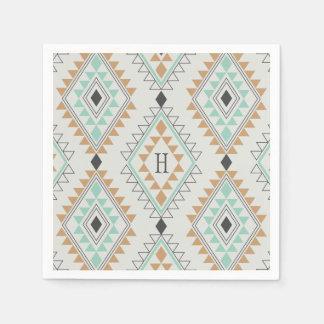 Custom Monogram Navajo Diamonds Napkin