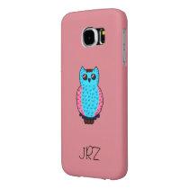 Custom Monogram Neon Owl Samsung Galaxy S6 Case