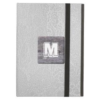 Custom Monogram Picture of Wood Rustic iPad Folio Cases