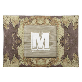 Custom Monogram. Picture with a Rustic Style. Placemat