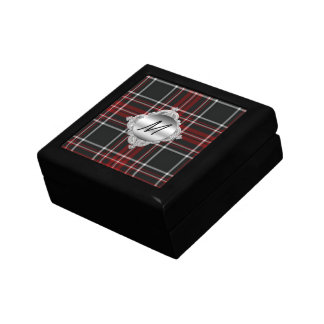 Custom Monogram Plaid Tile Box