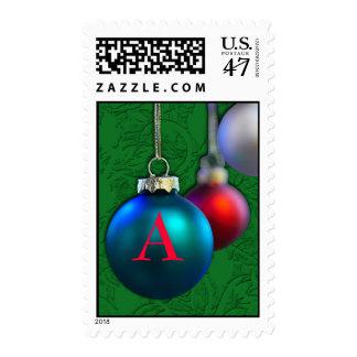 Custom Monogram Postage for the Holidays