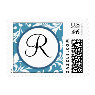 Custom Monogram Postcard Stamps