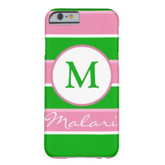 Custom Monogram Preppy Stripe iPhone 6 case
