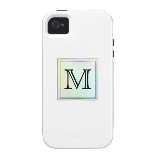Custom Monogram. Pretty multicolor printed design. Vibe iPhone 4 Cases