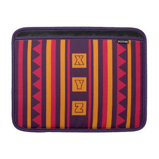 """Custom Monogram Quilt pattern 13"""" sleeve MacBook Air Sleeve"""