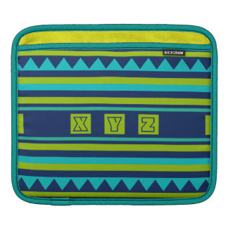 Custom Monogram Quilt pattern iPad sleeve