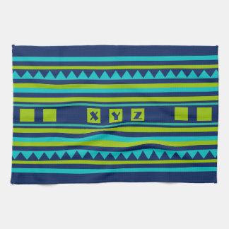 Custom Monogram Quilt pattern kitchen towel