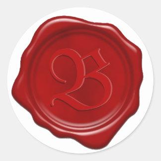 Custom Monogram Red Wax Seal