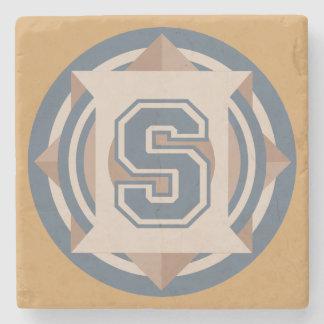 "Custom Monogram ""S"" Initial Stone Coaster"