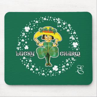 Custom Monogram St. Patrick's Day Gift Mousepads