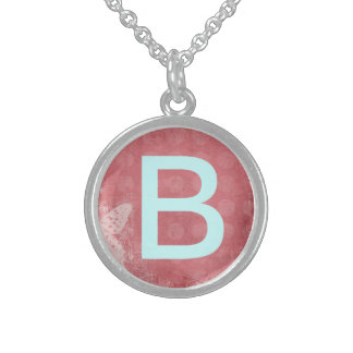 Custom Monogram Sterling Silver Necklace
