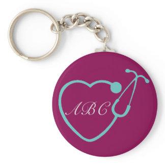 Custom Monogram Stethoscope Key Chain