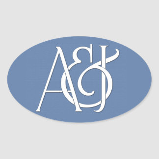 custom monogram stickers