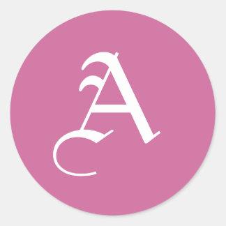 Custom Monogram Stickers Letter