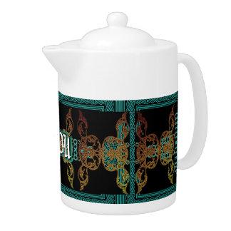 Custom Monogram Teapot