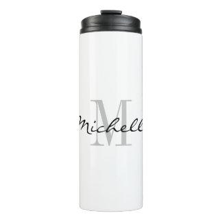 Custom monogram thermal tumbler travel mugs