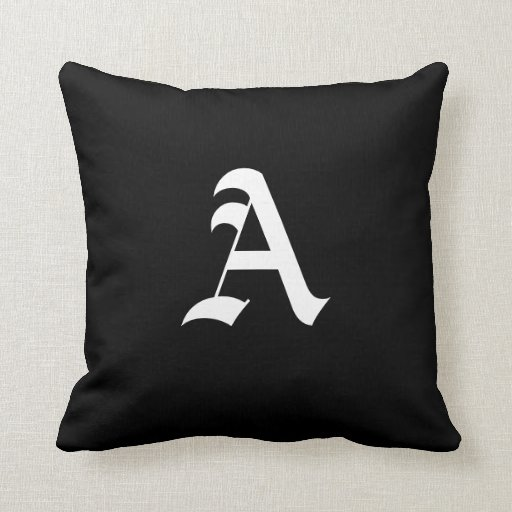 Custom Monogram Throw Pillow Zazzle