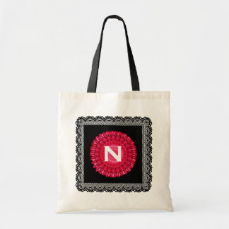 Custom Monogram To Personalize Lace Floral V11 Tote Bag