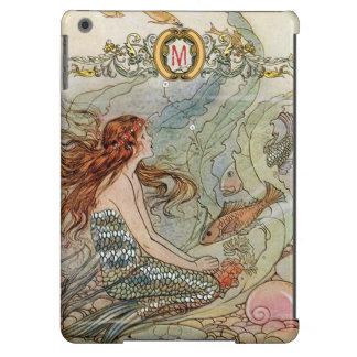 Custom Monogram Under the Sea Vintage Mermaid Case For iPad Air