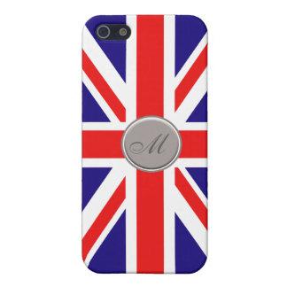 Custom Monogram Union Jack iPhone 5 Case