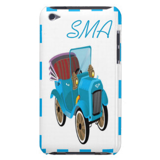 Custom Monogram Vintage Cartoon Car Barely There iPod Cases