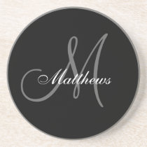 Custom Monogram Wedding Anniversary Coaster