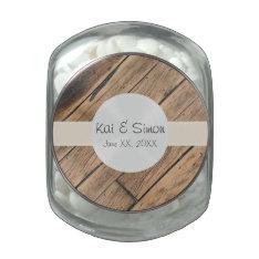 Custom Monogram Wedding Favor Filled Candy Jar Glass Jars at Zazzle