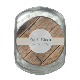 Custom Monogram Wedding Favor Filled Candy Jar Glass Jars