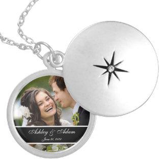 Custom Monogram Wedding Photo Keepsake Necklaces