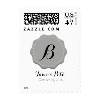Custom Monogram Wedding Posrage Stamps