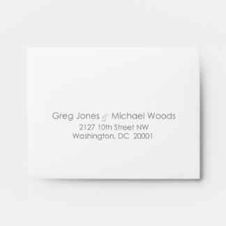 Custom_Monogram Wedding RSVP Envelope