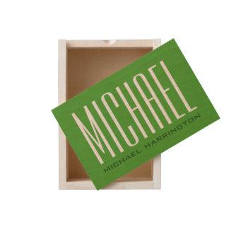 Custom Monogram wooden keepsake box