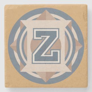 "Custom Monogram ""Z"" Initial Stone Coaster"