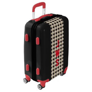 Custom Monogrammed Baseball Suitcase