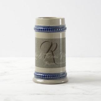 Custom monogrammed family beer stein