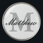 """Custom monogrammed golf ball markers   golfer gift<br><div class=""""desc"""">Custom monogrammed golf ball markers for golfers. Monogrammed golfer gift idea for him or her. Elegant script typography template for name and initial letter. Classy golfing presents for men and women. Cute Birthday or Fathers Day gift ideas.  Trendy sports accessories.</div>"""