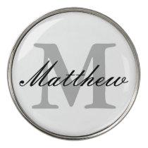 Custom monogrammed golf ball markers | golfer gift