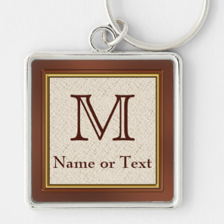 Custom Monogrammed Personalized Keychains for Men