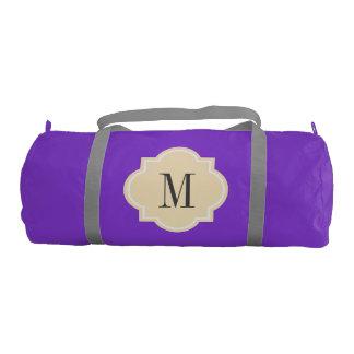 Custom monogrammed quatrefoil duffle bag for women