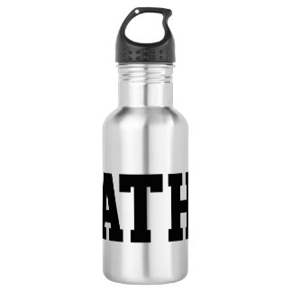 Custom monogrammed stainless steel water bottle