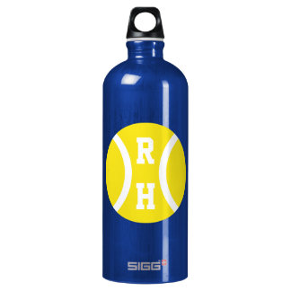 Custom monogrammed water bottle for tennis players