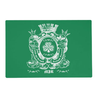 Custom Monograms St. Patrick's Day Party Placemats