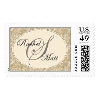 Custom Monongram Postage Stamps