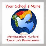 Custom Montessorians Nurture Peacemakers Print