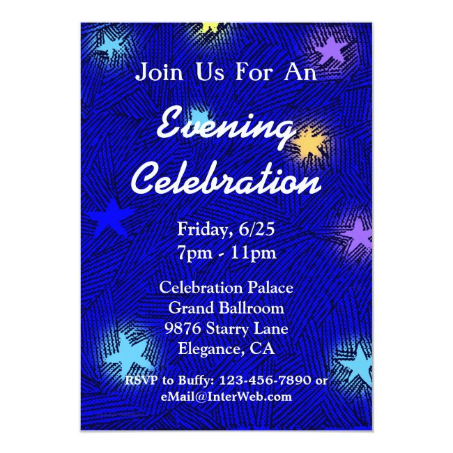 Custom Moon and Stars Celebration Party Invitation