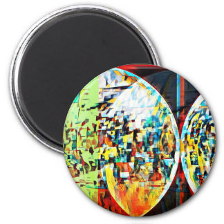 Custom Moon Into Disco Design Magnet