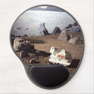 CUSTOM MOON LANDSCAPE - NASA SPACE MISSION Pad Gel Mouse Pad