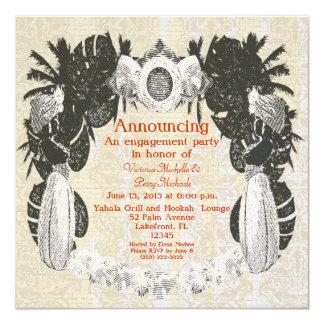 Custom Moorish Hookah Lounge Party - 5.25x5.25 Square Paper Invitation Card