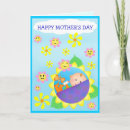 Custom Mother's Day Card - This cute and cuddly Baby announces your special message for Mother's Day.